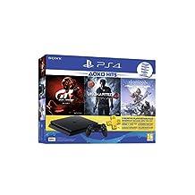Sony PlayStation 4 500GB Oyun Konsolu, Horizon Zero Down, Gran Turismo Sport, Uncharted 4