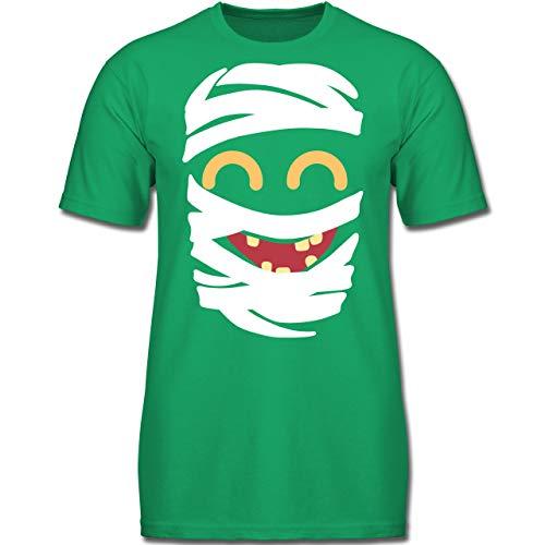 Karneval & Fasching Kinder - Mumie Karneval Kostüm - 164 (14-15 Jahre) - Grün - F130K - Jungen Kinder T-Shirt (Kostüm Mumie Junge)