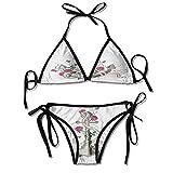 Soft Bikini Two Pieces Sets,Marine Icon Entwined with Sexy Bikini 2 Pieces