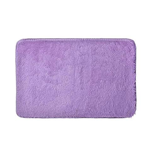 Elevin (TM) Mode doux antidérapant absorbant Tapis de bain salle de bain douche Rugs Tapis, violet, Approx 60*70cm