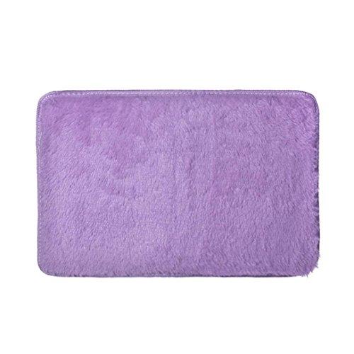 Seegras Sisal Teppich (elevin (TM) Fashion Weich rutschfeste saugfähig Badteppich Badezimmer Dusche Teppiche Teppich, Korallenvlies, violett, Approx 60*70cm)