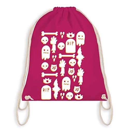 (Halloween - Halloween Totenkopf Mosaik - Unisize - Fuchsia - WM110 - Turnbeutel & Gym Bag)