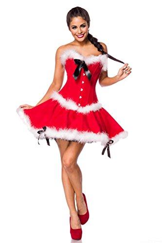 Baby Miss Santa Kostüm - Atixo Miss Santa Komplettset - rot/weiß, Größe Atixo:XL