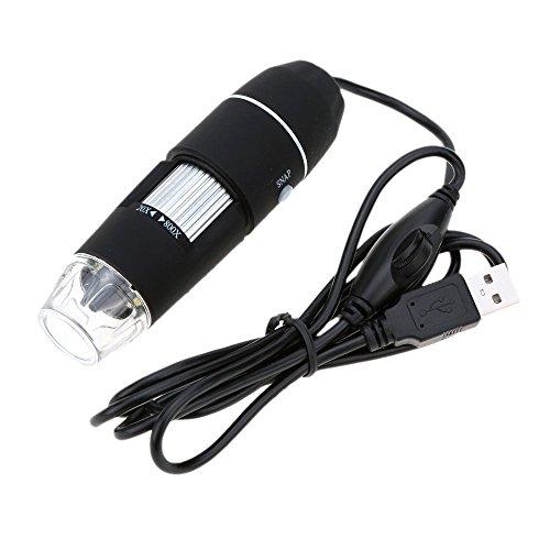 TOOGOO (R) 40X ~ 800X 8LED USB 2.0 Digitale Mikroskopendoscope Lupe Kameratreiber portable dimmbaren Staender mit schwarz