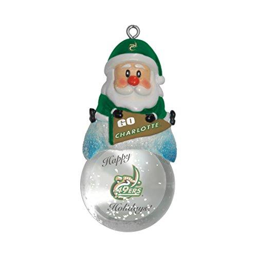 Boelter Brands NCAA North Carolina Charlotte 49ers Snow Globe Ornament