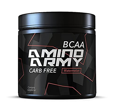 ★ BCAA Powder 25 servings ( Watermelon ) ★ 6 000 mg BCAA + 1000 mg Glutamine + 3000 mg Alanin, Lysine, Glycine ★ Total 10,000 mg amino acids per serving ★ Great for Pre workout & Recovery purposes