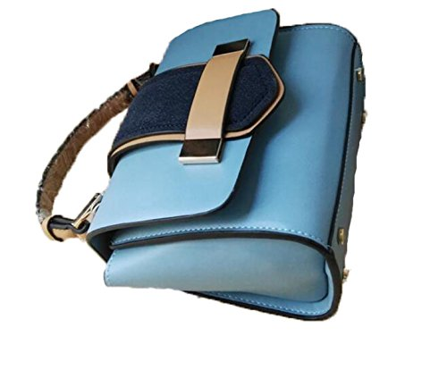 Fabelhaft Neue Simple Splicing Handtasche Blue