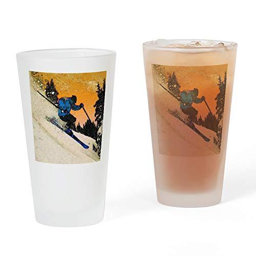CafePress SkierBierglas, 454 ml Trinkglas frosted