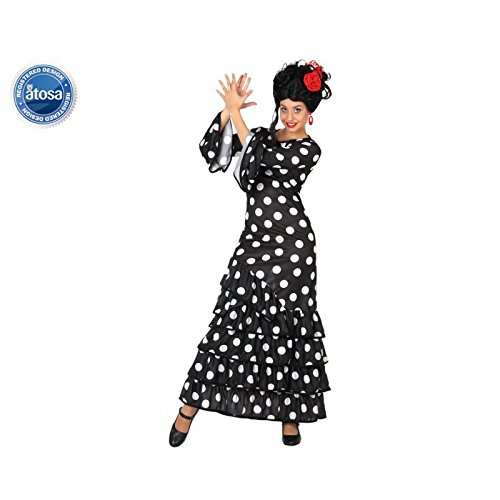 Usado, Atosa 28603 , Flamenco, negro, señoras traje, tamaño segunda mano Se