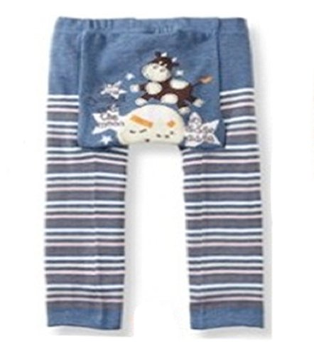 Busha Baby Toddler Unisex Leggings with Adorable Animal & Sriped Design Cow over Moon Size M 12-24 Months