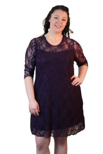 Girl TalkDamen Kleid 100 DEN Violett - Pflaumenfarben