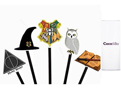 10x –Mágico Escuela Hogwarts de magos Cupcakes/Púas–Harry Potter Tema Fiesta Decoraciones y para accesorios
