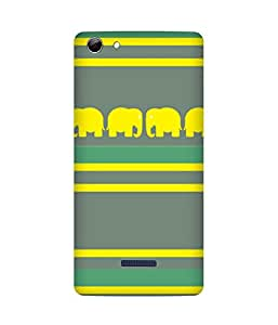 Stripes And Elephant Print (16) Micromax Canvas Selfie 3 Q348 Case