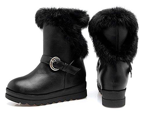 Fourr Chaussures Noir Aisun Femme Chic Hiver Ski De Bottines FwqPT8ET