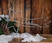 """Stella Cometa Natalizia,realizzata interamente a mano in alluminio,con scritta""""Merry Christmas"""" e ba"""