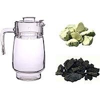 """MyHomeLux Karaffe +""""Wasserfiltermischung"""" Wassersteine Mischung für Wasseraufbereitung Schungit 200g. und Zeolith... preisvergleich bei billige-tabletten.eu"""