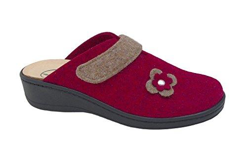 Les femmes estiment pantoufle 37 38 39 40 41 42 bordo francs chaussures 1260-1 Rouge