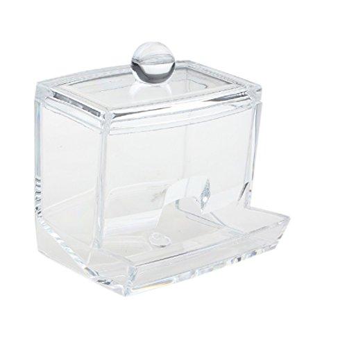 Fulltime® Acrylique Boîte à Bâtonnets coton-tiges Papier Cotton Stick Coton Tige écouvillon titulaire Box Holder