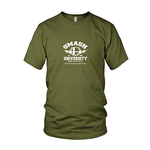 Smash University - Herren T-Shirt, Größe: S, Farbe: (Cosplay Super Smash Kostüme Brawl Bros)
