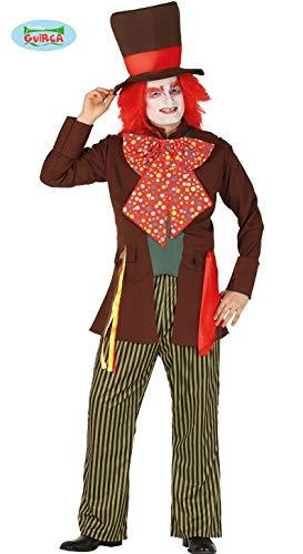Guirca Costume Cappellaio Matto Uomo Adulto Disney Carnevale Taglia: L 52-54