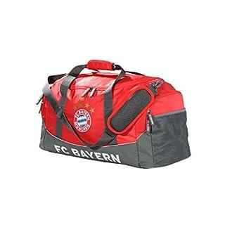FC Bayern München Sporttasche / Training Tasche rot mit großem Hauptfach