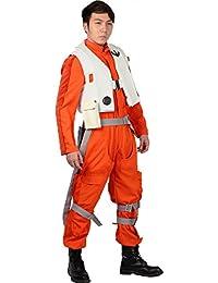 Halloween Kostüm Ausstattung Herren Erwachsene Orange Versuchs Overall Fantasie Cosplay Kleidung Kompletter Anzug