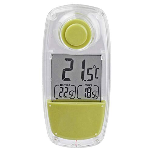 Bomcomi Solar Powered Innen-LCD Digital Window Thermometer Täglich Max/Min Satzanzeige Temperaturmessgerät -