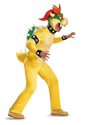 Deluxe Adult Bowser Fancy dress costume X-Large (Bowser-kostüm Bros Mario)
