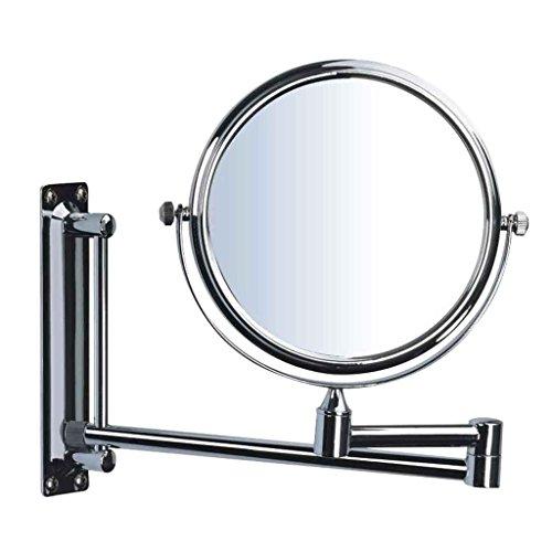 Miroirs Salle de Bains de Salle de Bains d'hôtel de rétractable cosmétique de Rasage de Huit Pouces 3 Fois Grossissement de Maquillage Haute définition à Double Face (diamè