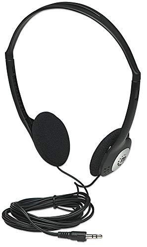 Manhattan Stereo Kopfhoerer Ultraleicht mit verstellbarem Kopfbuegel Leichter Anschluss mit 3,5 mm Stereo-Klinkenstecker 177481 -
