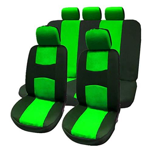 LouiseEvel215 9 piezas Fundas de asiento de coche Juego completo Funda de asiento de coche Fundas de asiento de vehículo Accesorios de coche universales Estilo de automóvil