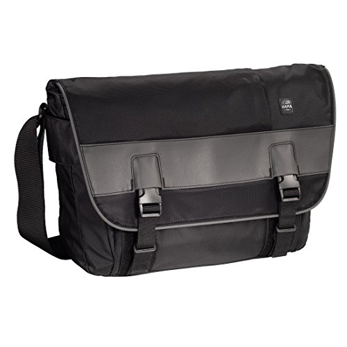 "Price comparison product image Hama Munich 15.6"" Messenger - notebook cases (Messenger, Black, Monotone, Nylon, 400 x 100 x 280 mm)"