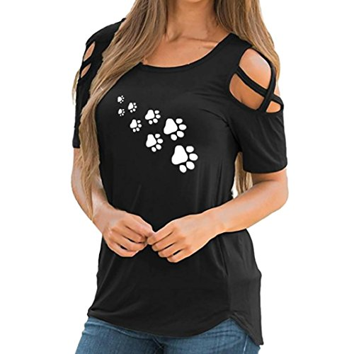 Sanfashion camicia - con bottoni - tinta unita - a punta tonda - manica corta - donna nero xxl