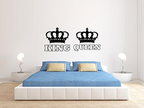 KING And QUEEN - KRONE II - Schwarz - Mittel - Wandtattoo