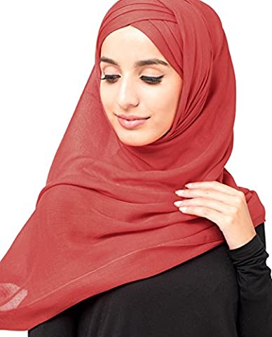 InEssence© New Poinsettia Red Viscose Scarf Ladies Wrap Hijab Maxi