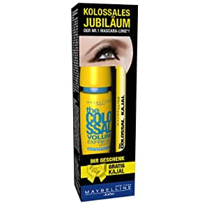 Maybelline New York Set - Volume Express The Colossal Mascara waterproof plus Kajal 1013, 1er Pack (1 x 2 Stück)