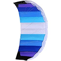 Wolkenstürmer Paraflex Basic 1.7 - Aile de traction, Bleu - Prêt a voler cerf-volant 2 lignes pour débutants- voile de traction - aile de kitesurf