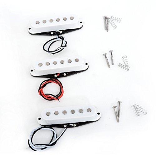 Musiclily Pro Set Alnico V 50 Manico & 50 Middle 52mm Ponte Strat Pickup Single Coil per Chitarra Stratocaster,Copertine Colorate
