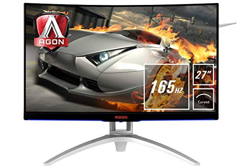 AOC Agon AG272FCX6 - Monitor 27' Curvo FHD (resolución 1920 x 1080 Pixeles, Contraste 3000:1, 4 ms, FreeSync, FlickerFree, LowBlue, Altavoces, VESA, HDMI, Displayport)