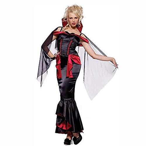 (Yunfeng Hexenkostüm Damen Halloween-Kostüm weiblicher Geist Tag Kostüm Vampir Queen Party Kostüme Hexe Outfit Demon Outfit)