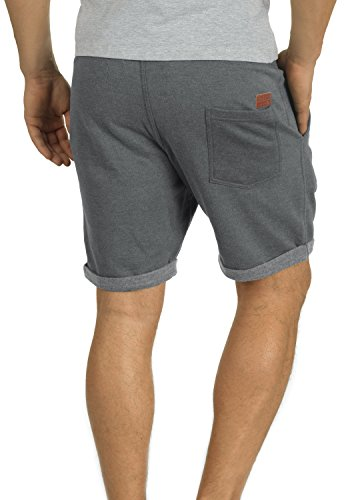 BLEND Timo Herren Sweatshorts kurze Hose Sport-Shorts aus hochwertiger Baumwollmischung Slim fit Stretch Pewter Mix (70817)