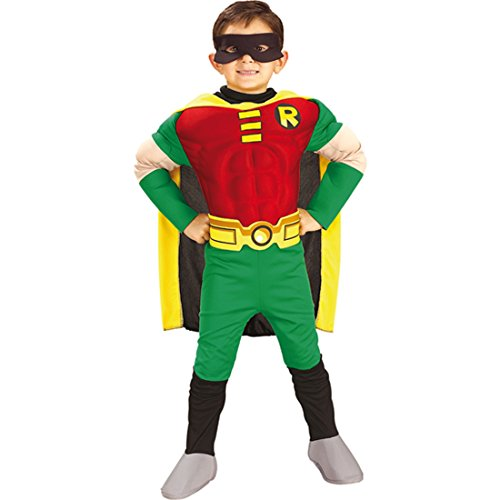 Costume di Robin per bambino travestimento per carnevale dal film Batman & Robin - L 8 - 10 anni