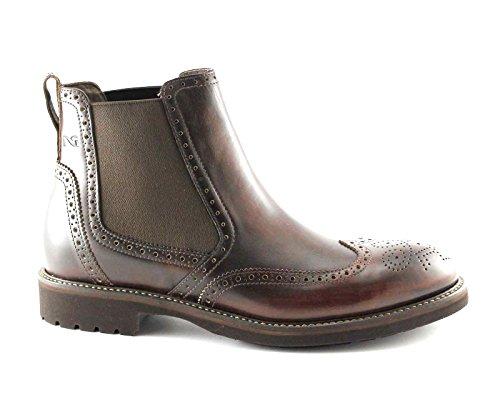 NERO GIARDINI 4415 marrone scarpe uomo stivaletti beatles inglese pelle 44