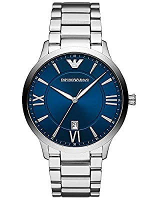Emporio Armani Mens Analogue Quartz Watch with Stainless Steel Strap AR11227