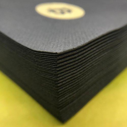 Bitcoin Cocktail Servietten | aus schwarzem Premium Airlaid | 25 St. | 25 x 25 cm | hochwertige BITCOIN Goldprägung | - 2