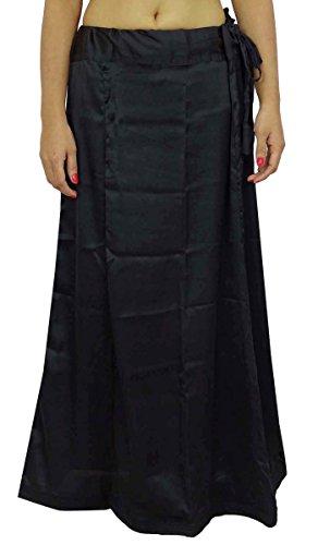 Satin Silk Saree Petticoatunderskirt Bollywood Indian Futter für Sari