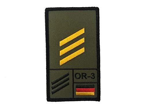 Café Viereck ® Hauptgefreiter Marine Bundeswehr Rank Patch mit Dienstgrad - Gestickt mit Klett - 9,8 cm x 5,6 cm