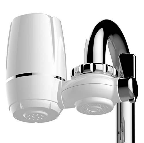 Smardy purelux f801 filtro per rubinetto per acqua potabile 1000 litri – interscambiabile multilivello, 2 livelli in ceramica – filtro a carboni attivi con adattatore