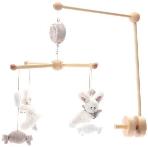 Doudou et Compagnie Mobile Musical Bois, Animal et Coloris au choix