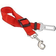 UEETEK Cinturón de Seguridad de Coche para Perro Gato Mascotas Correa Ajustable Rojo